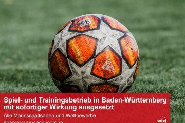 Spiel- und Trainingsbetrieb eingestellt
